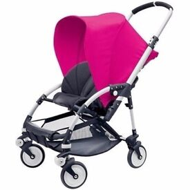 Bugaboo Bee Push Chair In Pink With Sun Canopy