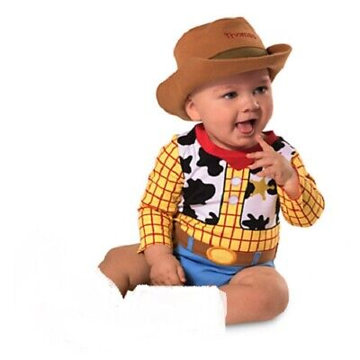 WOODY~Infant~Sheriff~COSTUME~BODYSUIT + HAT~Toy Story~NWT~Disney baby Store
