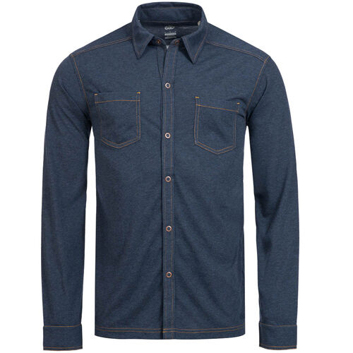 Nike 6.0 Button up Drip Blend Long-sleeved Mens Navy Shirt 436023 ...