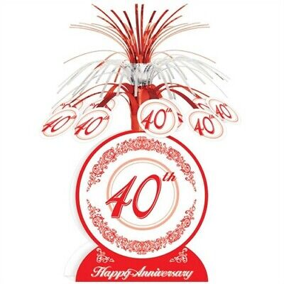 40th Anniversary Centerpiece 13 Inch Anniversary Party Supplies Decorations - Anniversary Supplies