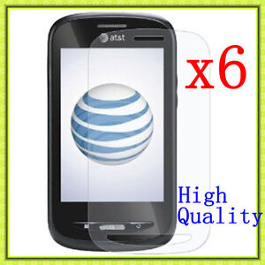 6 Pcs HD Clear LCD Screen Protector Guard For AT&T ZTE Avail Z990 / Merit 990G