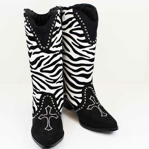 Zebra Print Boots Ebay