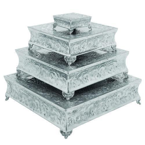 square wedding cake stand ebay