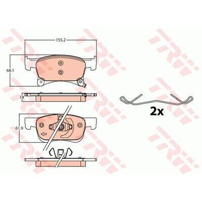 1 Bremsbelagsatz, Scheibenbremse TRW GDB2091 passend für OPEL VAUXHALL