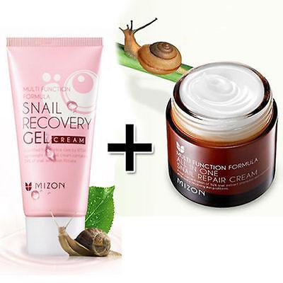 [MIZON] All In One Snail Repair Cream 75m + Snail Recovery Gel Cream 45ml /Korea