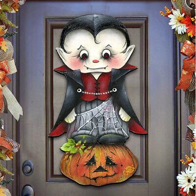 """Halloween """"Dracula"""" Wooden Wall Decor, Door Hanger by Jamie Mills-Price 8457401H](Jamie Mills Price Halloween)"""