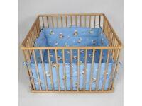 Mobile Wooden baby playpen, 100cm x 100cm