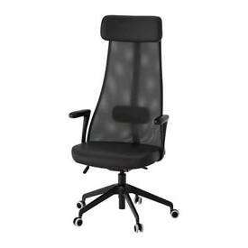 Ikea JÄRVFJÄLLETSwivel office / desk chair with armrests Glose black
