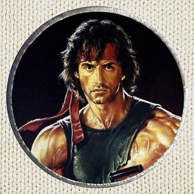 Rambo 2 Patch Picture Embroidered Border Film Poster John Sylvester Stallone