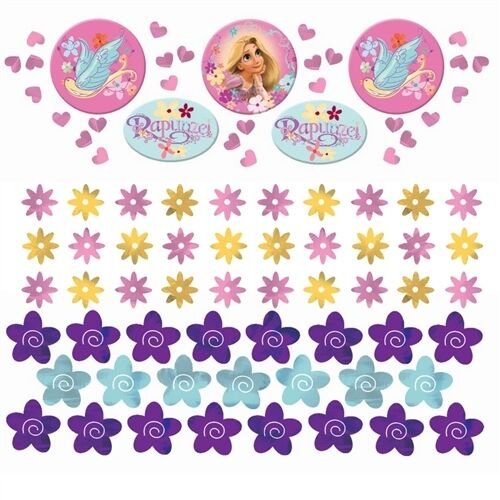TANGLED CONFETTI VALUE PACK (3 types) ~ Birthday Party Supplies Decorations Foil