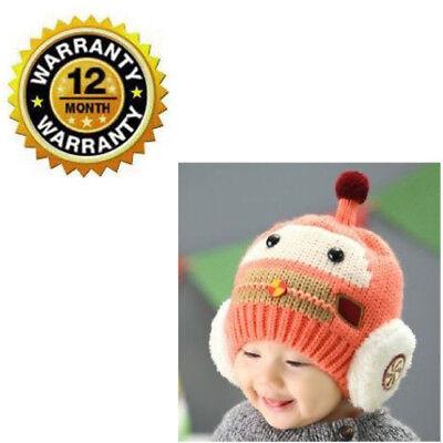Hat Knit For Baby 3D Car Shaped Toddler Infant Winter Thick Skull Fleece Earmuff