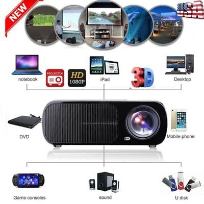 3500Lumens 1080P Full HD LED Video Projector Home Theater Cinema HDMI VGA USB AV
