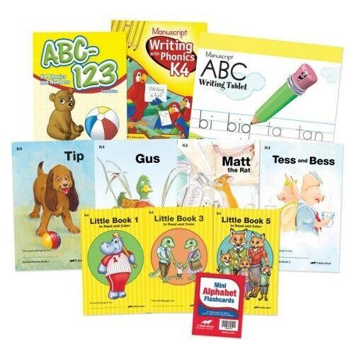 Abeka K4 Homeschool Child Full-Grade Kit (Manuscript  Edition)