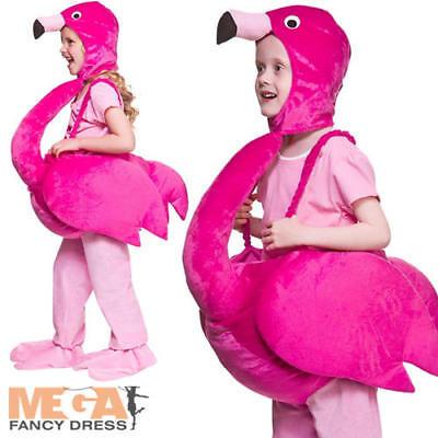 Pink Flamingo Kids Fancy Dress Tropical Bird Boys Girls Childrens Costume - Kids Flamingo Costume