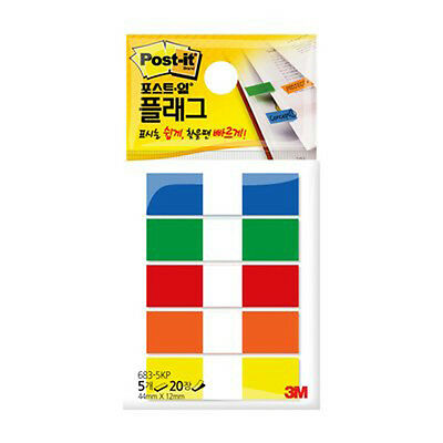 3m Post-it Flag 683-5kp 12mm44mm 1pack 100sheets Bookmark Point Sticky Note
