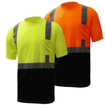 Gss Class 2 High Visibility Black Bottom T-shirt 5111 5112