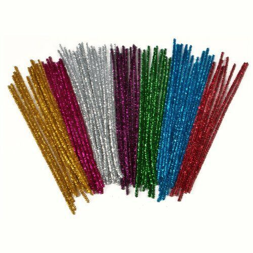 Creation Station Tinsel Pipe Cleaners  150 mm x 6 mm Pack of 100 CT4080