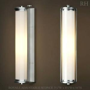 Pair of Polished Nickel Sconces - Brand New RH
