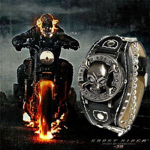 Ghost Rider Watch Skeleton Cover Popular Skull Wristwatch