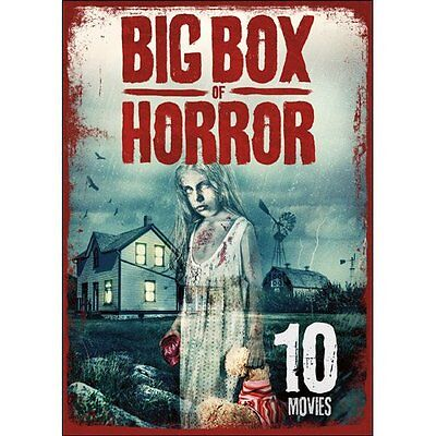 Big Box of Horror (DVD, 2016, 2 Disc Set) 10 Movies, Over 14 Hours - Halloween 10 Hours
