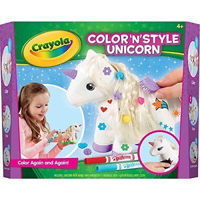 Crayola Kinder-Spaß Kunst Farbe 'n' Style Einhorn Handwerk Set - Wischen und