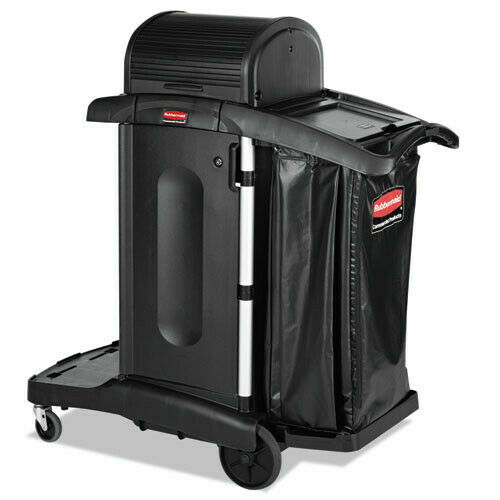 Rubbermaid Commercial 1861427 Executive High Security Cleaning Cart - Black New