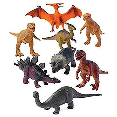 12 - Assorted Medium Sized Plastic Toy Dinosaurs Play set figures. New