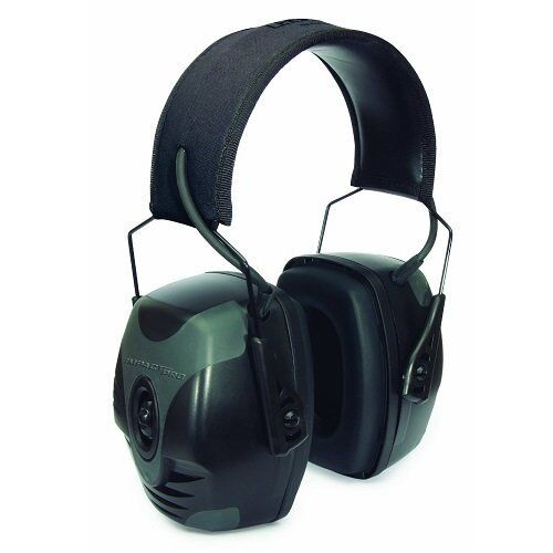 Black Electronic Ear Muff 30NRR Safety Shooting Hearing Prot
