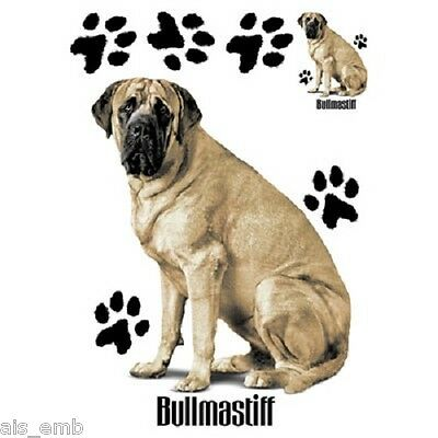 Bullmastiff Dog Heat Press Transfer Print For Shirt Sweatshirt Bag Fabric 880a