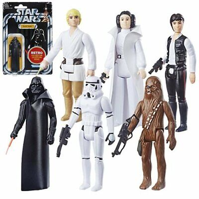 2019 Star Wars Retro Collection - Wave 1 LUKE, LEIA, HAN, CHEWY, DARTH IN STOCK