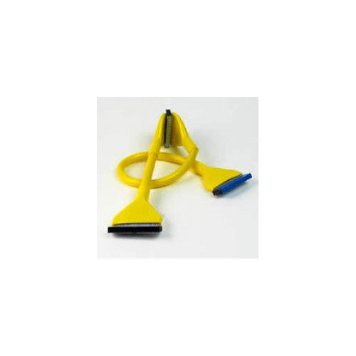 BRAND+NEW+45CM+YELLOW+ROUND+3+HEADER+FLOPPY+CABLE+RETAIL+PACKED+FREE+UK+POST