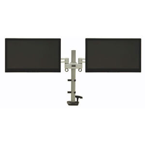 """SEALED-DAC Height-Adjustable Dual-Monitor Arm up to 27"""" and 22LB"""