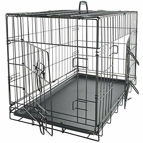 """Small 24"""" Metal Dog Cage Crate Foldable Portable 24.5×16."""