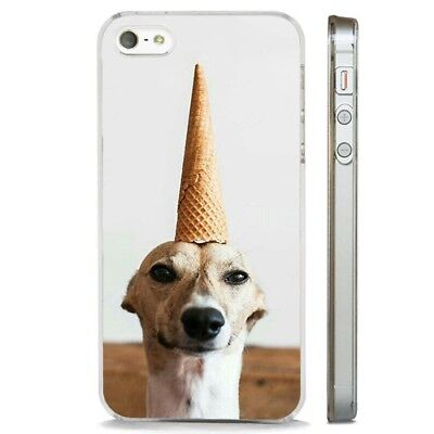 Funny Dog Ice Cream Cone CLEAR PHONE CASE COVER fits iPHONE 5 6 7 8 X Ice Clear Case Iphone