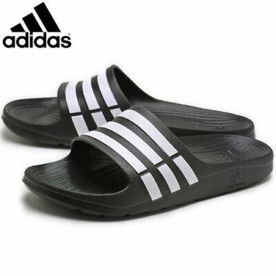 Men's Adidas Duramo Flip Flops Beach Sandals Sliders Black