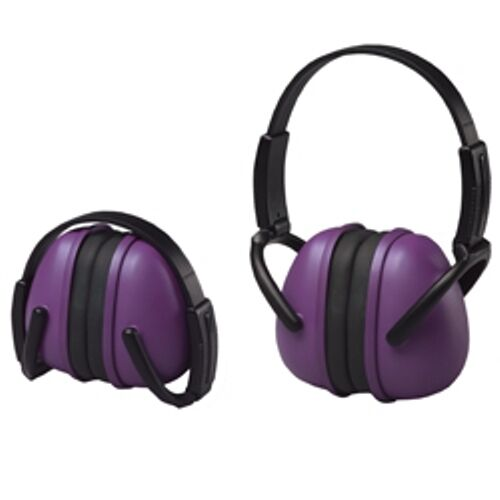 6 Purple Ear Muffs Hearing Protection Folding & Adjustable Work/Hunting/Shooting
