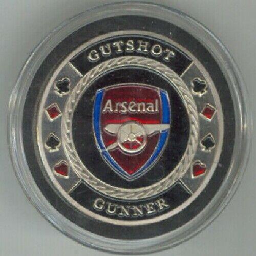 GUTSHOT - ARSENAL - GUNNER silver color Poker Card Guard Cover