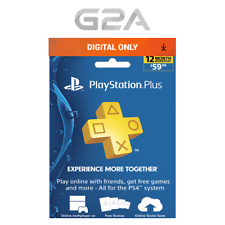 1 Year / 12 Month Sony PlayStation Plus- PSN 365 days Subscription for PS3 / PS4