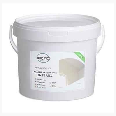 BIO Pittura Murale alla Calce per Interni, Lavabile Traspirante Antimuffa - 14Lt