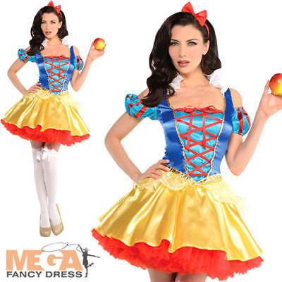 Snow White Ladies Fancy Dress Fairy Tale Book Day Womens Adults Costume Outfit  - Snow White Outfit Adults