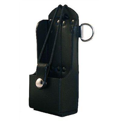 Boston Leather Radio Holder Plain Black -