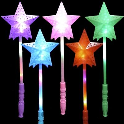 Flashing Star LED Wands Battery Operated 3 Light Settings Bulk Lot (Pack of 50) - Star Wands Wholesale