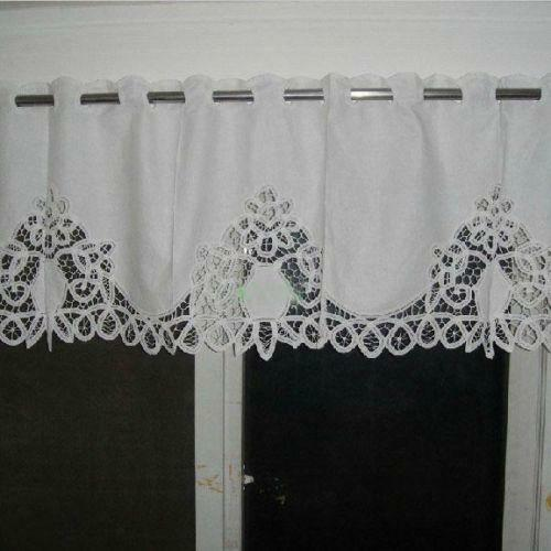 Vintage White Lace Curtains Ebay