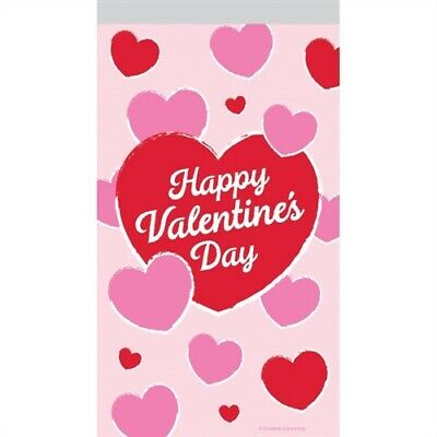 Happy Valentine's Day Hearts Treat Bags w/Zipper Valentines Day Decorations Vday](Valentine's Day Decorations)