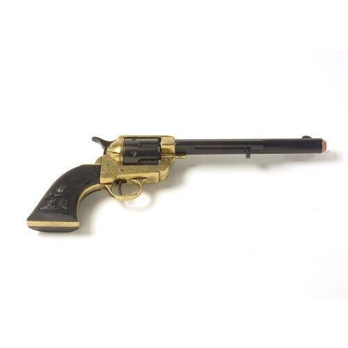 Denix M1873 Single Action Cavarly Replica Revolver - Black/Gold Finish