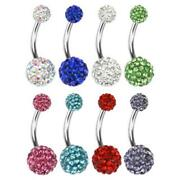 Belly Ring Multi Crystal
