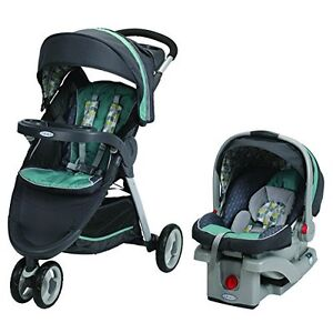 GRACO FAST ACTION FOLD SPORT JOGGER STROLLER AND CARSEAT