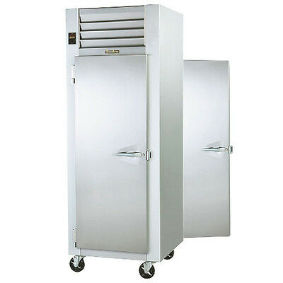 Traulsen G10014p 1 Section Pass-thru Refrigerator With Left Hinged Solid Doors
