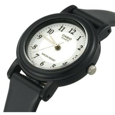 50m White Dial Watch (Casio Women's White Dial Black Resin Band Analog 50M Watch LQ139A-7B3 )