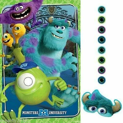 MONSTERS UNIVERSITY PARTY GAME POSTER ~ Birthday Supplies Decoration Activities
